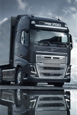 Preview iPhone wallpaper Volvo gray truck