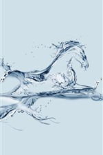 Preview iPhone wallpaper Water fish and horse, creative picture