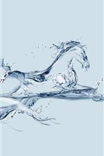 Peixes e cavalos aquáticos, imagem criativa