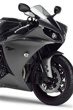 Preview iPhone wallpaper Yamaha YZF R125 black motorcycle