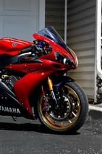 Preview iPhone wallpaper Yamaha red motorcycle