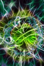 Preview iPhone wallpaper Abstract ball, colorful light