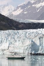 Preview iPhone wallpaper Alaska, glacier, mountain, snow, sea