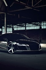Preview iPhone wallpaper Audi R8 black car