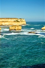Preview iPhone wallpaper Australia, rocks, sea, nature scenery