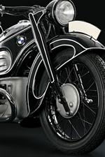 Motocicleta BMW, fundo preto