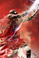 Preview iPhone wallpaper Basketball, sport, creative design