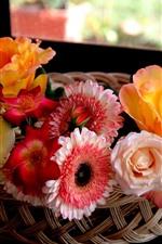 Lindas flores, cesta, interior