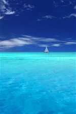 Preview iPhone wallpaper Blue sea, yachts