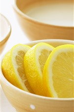 Preview iPhone wallpaper Bowl, lemon slice