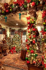 Preview iPhone wallpaper Christmas, interior, decoration, colorful