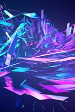 Preview iPhone wallpaper Colorful abstract fragments, explosion