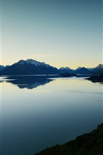 Preview iPhone wallpaper Lake, mountains, evening, nature scenery