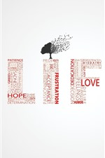 Preview iPhone wallpaper Life, tree, words, creative design