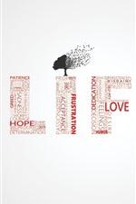 Life, tree, words, creative design