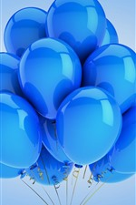 Preview iPhone wallpaper Many blue balloons