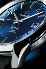 Omega watch, dial, blue