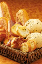 One basket of bread, food