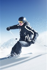 Preview iPhone wallpaper Ski, man, sport, snow