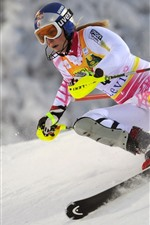Preview iPhone wallpaper Ski, women, snow, sport