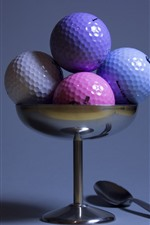 Preview iPhone wallpaper Some golf balls