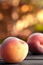 Some peaches, hazy