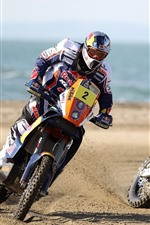 Preview iPhone wallpaper Two motorcycles, sport, race