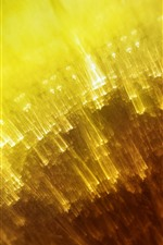 Preview iPhone wallpaper Yellow light lines, abstract design