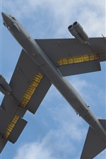 Preview iPhone wallpaper B-52H heavy bomber, flight, sky, clouds