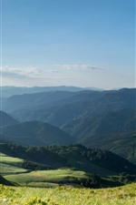 Preview iPhone wallpaper Bulgaria, mountains, grass, nature landscape