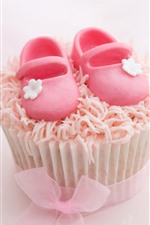 Preview iPhone wallpaper Cake, sugar shoes
