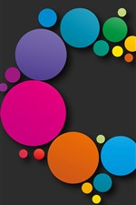 Preview iPhone wallpaper Colorful circles, abstract design