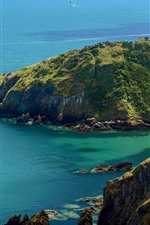 Preview iPhone wallpaper Dartmouth, England, sea, mountains
