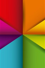 Preview iPhone wallpaper Geometry shapes, abstract, colorful, triangle