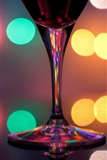 Preview iPhone wallpaper Glass cup, colorful light circles