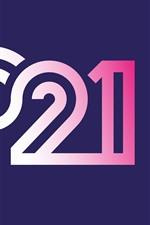 Feliz Ano Novo de 2021, números coloridos