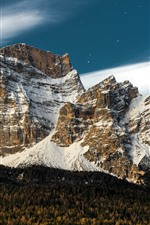 Preview iPhone wallpaper Italy, Veneto, mountains, snow, moon