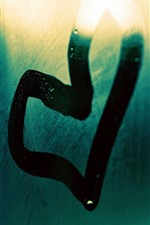 Preview iPhone wallpaper Love heart, glass, surface