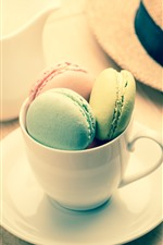 Preview iPhone wallpaper Macaron, cake, colorful, cup, hat
