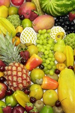 Many kinds fruit, colorful, delicious