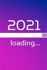 Preview iPhone wallpaper New Year 2021, loading, creative picture