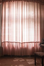 Preview iPhone wallpaper Room, window, curtain, piano, dust
