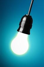 iPhone壁紙のプレビュー いくつかの電球、1つの照明