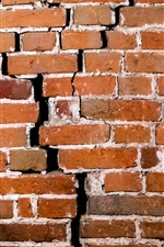 Preview iPhone wallpaper Wall, bricks, texture, crack