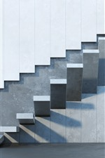 Wall, steps