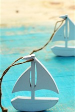 Preview iPhone wallpaper Wood boat, toy