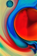 Preview iPhone wallpaper Abstract paint, colorful, bubble