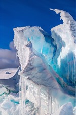 Preview iPhone wallpaper Antarctica, icicles, ice