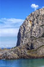 Golfo da Biscaia, Espanha, mar, montanha, praia