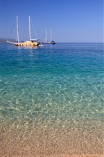 Preview iPhone wallpaper Croatia, yachts, sea, coast